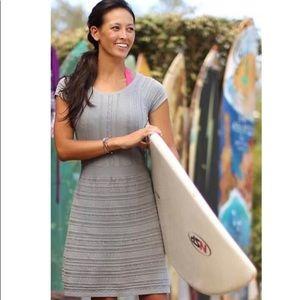 Athleta knee length grey knit dress small